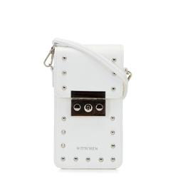 Damska listonoszka mini z nitami, biały, 92-2Y-565-0, Zdjęcie 1