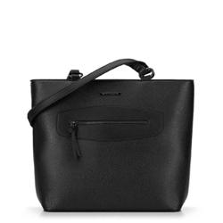 Torebka shopperka z ozdobnym panelem, czarny, 92-4Y-200-1, Zdjęcie 1