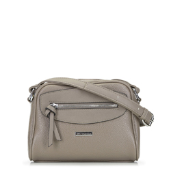 Cross body bag with decorative panel, grey, 92-4Y-201-8, Photo 1