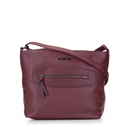 Women's hobo bag, burgundy, 92-4Y-204-2, Photo 1