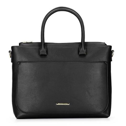 Kuferek z kieszenią na netbooka, czarny, 92-4Y-221-1, Zdjęcie 1
