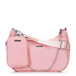 Cross body bag with coin purse, pink, 92-4Y-313-P, Photo 1
