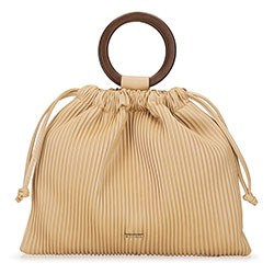 Hoop handle hobo bag, beige, 92-4Y-552-5, Photo 1