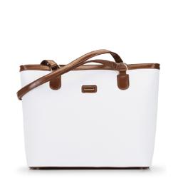 Torebka shopperka duża trapezowa, biały, 92-4Y-630-0, Zdjęcie 1