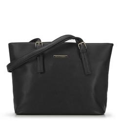 Torebka shopperka z regulowanymi paskami, czarny, 93-4Y-905-1, Zdjęcie 1