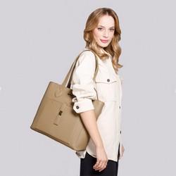 Torebka shopperka klasyczna z kieszenią z przodu, beżowy, 29-4Y-002-9, Zdjęcie 1