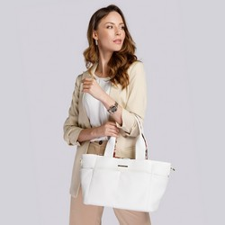 2-in-1 tote bag with floral lining, white, 92-4Y-212-0, Photo 1