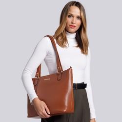 Shopper bag, cognac, 93-4Y-207-5, Photo 1