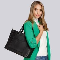 Shopper bag, black, 93-4Y-912-1, Photo 1