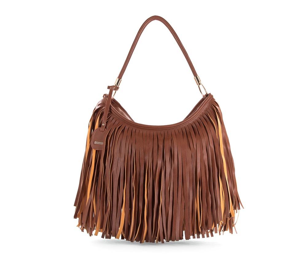 Женская сумкаЖенская сумка из коллекции Young&#13;<br>Основной отдел застегивается на молнию. Внутри карман на молнии, открытый карман для мелких предметов и отделение для мобильного телефона. Дополнительно прилагается съемный, регулируемый  ремень.<br><br>секс: женщина<br>Цвет: коричневый<br>материал:: Экокожа<br>длина плечевого ремня (cм):: 69 - 127<br>высота (см):: 27<br>ширина (см):: 35 - 39<br>глубина (см):: 12.5<br>иное :: поместит формат А4<br>общая высота (см):: 44<br>длина ручки/ек (см):: 50
