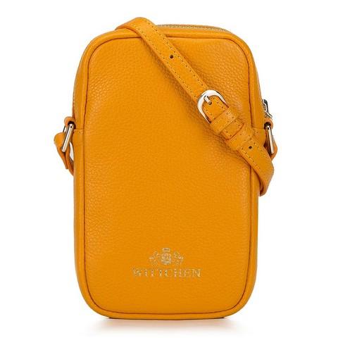Torebka z pikowanej skóry pionowa, pomarańczowy, 92-2E-314-6, Zdjęcie 1