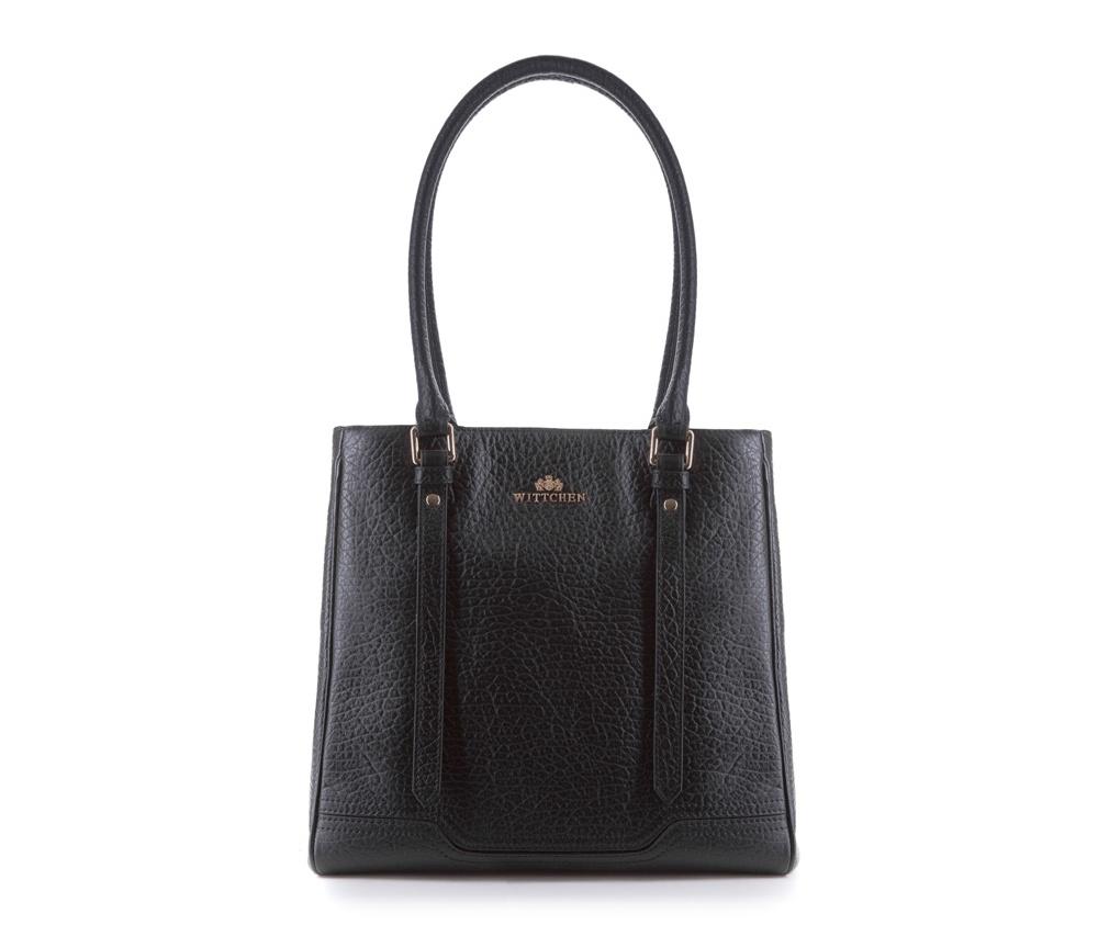 Женская сумкаЖенская сумка из коллекции Elegance&#13;<br>Основной отдел застегивается на магнитную застежку и разделен карманом на молнии. Внутри двакармана на молнии, открытый карман для мелких предметов и отделение для мобильного телефона.<br><br>секс: женщина<br>Цвет: черный<br>материал:: Натуральная кожа<br>высота (см):: 30<br>ширина (см):: 28 - 30.5<br>глубина (см):: 13<br>общая высота (см):: 55<br>длина ручки/ек (см):: 66