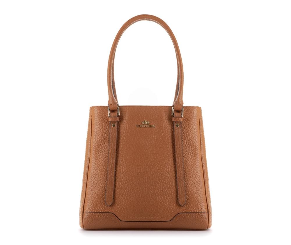 Женская сумкаЖенская сумка из коллекции Elegance&#13;<br>Основной отдел застегивается на магнитную застежку и разделен карманом на молнии. Внутри двакармана на молнии, открытый карман для мелких предметов и отделение для мобильного телефона.<br><br>секс: женщина<br>Цвет: коричневый<br>материал:: Натуральная кожа<br>высота (см):: 30<br>ширина (см):: 28 - 30.5<br>глубина (см):: 15<br>общая высота (см):: 55<br>длина ручки/ек (см):: 66
