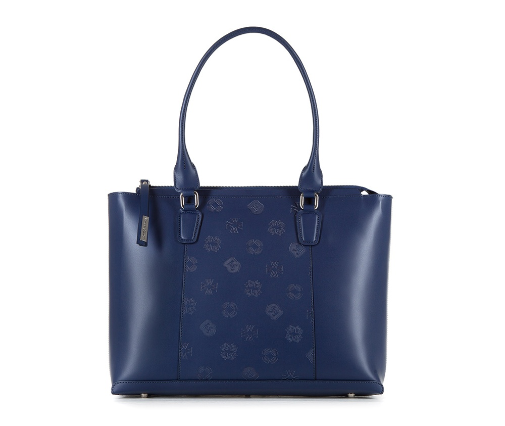 Женская сумкаЖенская сумка из коллекции Elegance&#13;<br>Основной отдел застегивается на молнию. Внутри карман на молнии, открытый карман для мелких предметов и отделение для мобильного телефона. Дно сумки защищено металлическими ножками.<br><br>секс: женщина<br>вмещает формат А4: Вмещает формат А4<br>материал:: натуральная кожа<br>высота (см):: 28<br>ширина (см):: 37 - 39<br>глубина (см):: 10<br>общая высота (см):: 52