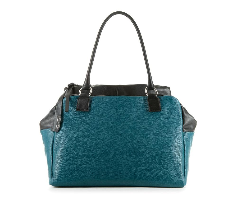 Женская сумкаЖенская сумка из коллекции Elegance&#13;<br>Основной отдел застегивается на молнию. Внутри карман на молнии, открытый карман для мелких предметов и отделение для мобильного телефона. Снаружи карман на молнии. Дно сумки защищено металлическими ножками.<br><br>секс: женщина<br>Цвет: зеленый<br>материал:: Натуральная кожа<br>высота (см):: 26<br>ширина (см):: 38<br>глубина (см):: 14<br>общая высота (см):: 51<br>длина ручки/ек (см):: 62
