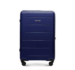 Średnia walizka z polipropylenu w nowoczesny wzór, granatowy, 56-3T-772-9R, Zdjęcie 1
