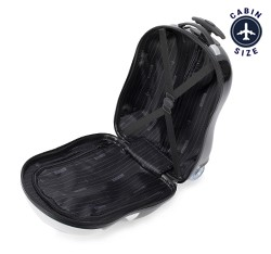 Kid's suitcase, black-white, 56-3K-006-P, Photo 1