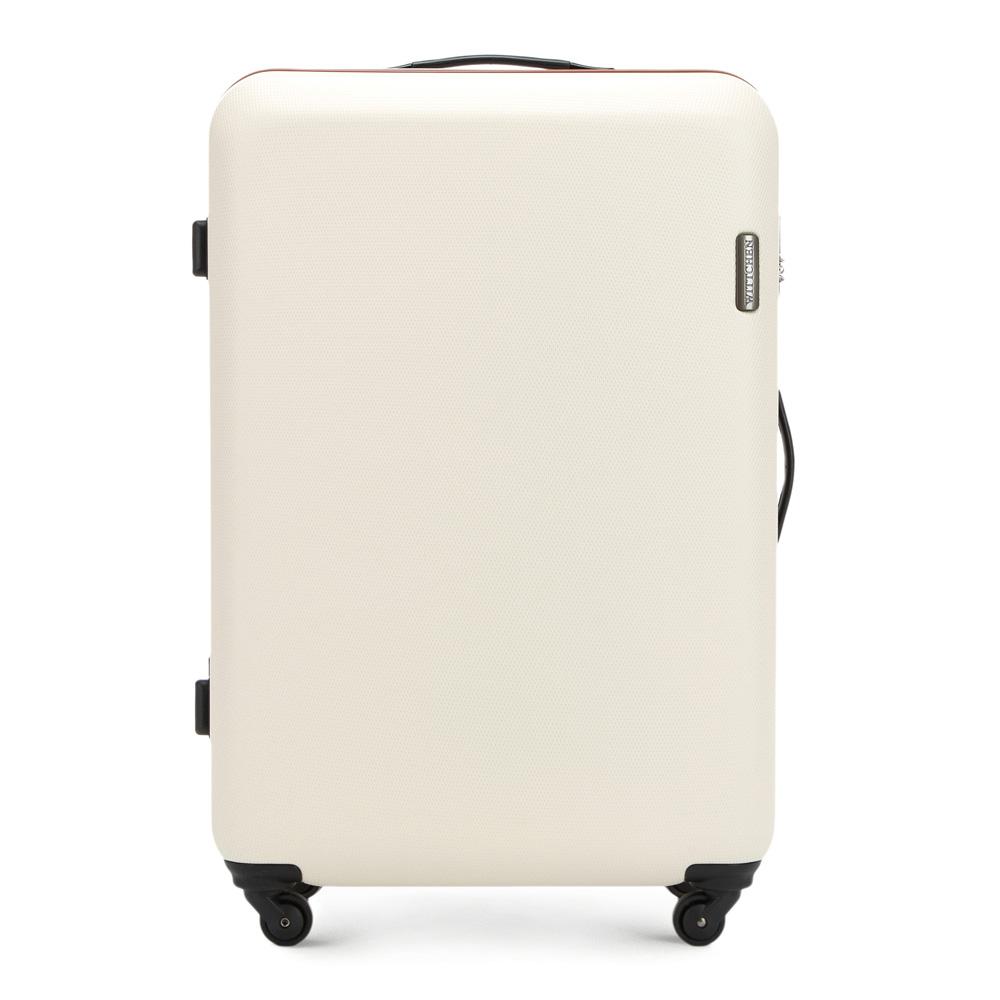 a47d5e8824998 Béžový veľký cestovný kufor z kolekcie ABS S-line