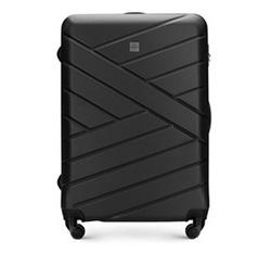 Duża walizka z ABS-u z deseniem, czarny, 56-3A-303-10, Zdjęcie 1