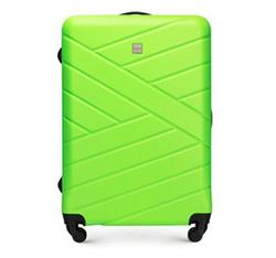 Duża walizka z ABS-u z deseniem, zielony, 56-3A-303-85, Zdjęcie 1