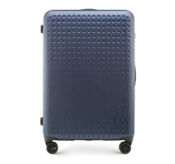 Large suitcase, navy blue-red, 56-3A-413-90, Photo 1