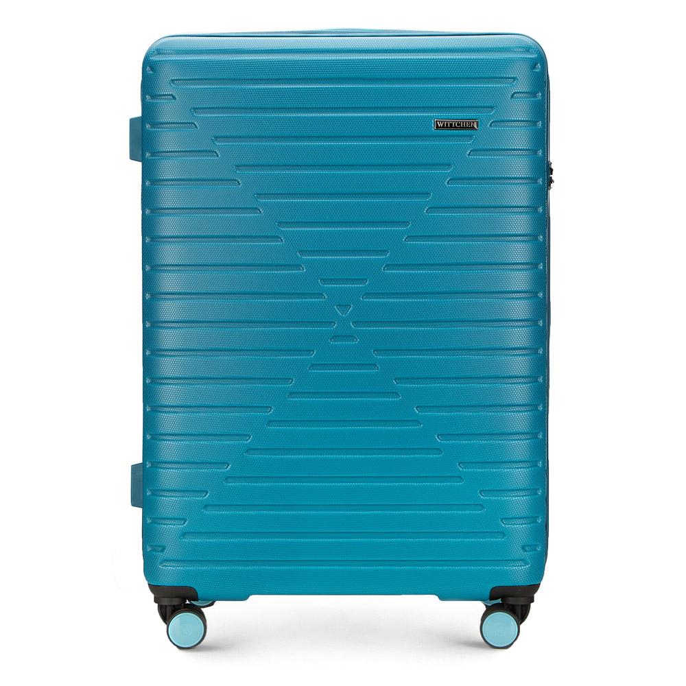 Купить Большой чемодан, WITTCHEN, Германия, голубой