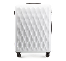 LARGE SUITCASE, white, 56-3H-553-88, Photo 1