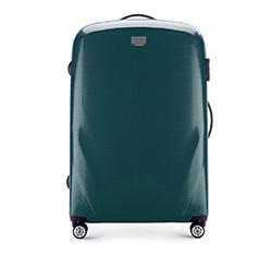 Duża walizka z polikarbonu jednokolorowa, zielony, 56-3P-573-85, Zdjęcie 1