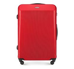 Duża walizka z polikarbonu prosta, czerwony, 56-3P-973-31, Zdjęcie 1