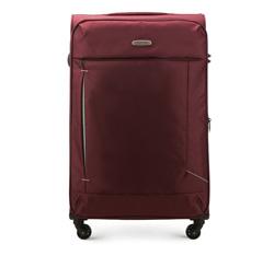 Duża miękka walizka prosta, bordowy, 56-3S-473-35, Zdjęcie 1