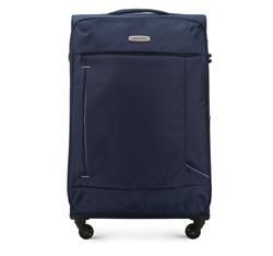 Duża miękka walizka prosta, granatowy, 56-3S-473-90, Zdjęcie 1