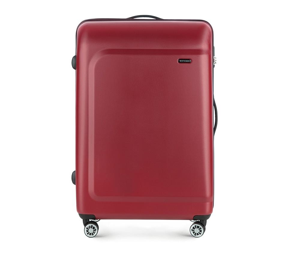 Чемодан на колёсиках  27\\Большой чемодан из коллекции TP-Power изготовлен из термопластичного полимера - инновационного материала, характеризующегося высокой прочностью.  Имеет четыре колесика, подножку, телескопическую ручку и дополнительную ручка для комфорта передвижения багажа.  Внутри:    сновное отделение на молнии с регулируемыми ремнями, предохраняющими одежду от перемещения;  карман - сетки на молнии;  два кармана на молнии.<br><br>секс: унисекс<br>Цвет: красный<br>материал:: Полимер<br>подкладка:: полиэстер<br>высота (см):: 77<br>ширина (см):: 51<br>глубина (см):: 29<br>размер:: большой<br>вес (кг):: 4,7<br>объем (л):: 91