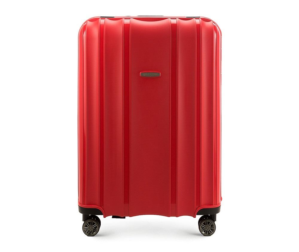 Чемодан на колёсиках 28\\Большой чемодан из коллекции Premium PP. Модель изготовлена из эластичного и ударопрочного полипропилена. Имеет четыре двойных колеса, двухступенчатую, выдвижную ручку и дополнительную ручку, облегчающие перемещение багажа. Закрывается на три пряжки главная из которых, на боковой панели чемодана, оснащена замком TSA (удобен в случае досмотра багажа таможенной службой). Внутри: основное отделение с эластичными ремнями, предохраняющими одежду от перемещения; дополнительно основное отделение оснащено перегородкой с тремя карманами, один из которых из сетки на молнии с ремнями, предохраняющими багаж от перемещения.<br><br>секс: унисекс<br>материал:: Полипропилен<br>высота (см):: 75<br>ширина (см):: 53<br>глубина (см):: 31<br>размер:: большой<br>объем (л):: 105<br>вес (кг):: 5,2