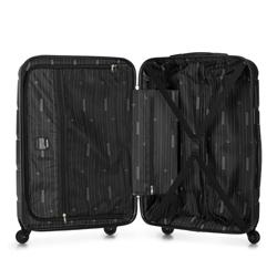 Duża walizka z ABS-u w deseń, czarny, 56-3A-403-11, Zdjęcie 1