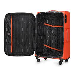 Large suitcase, orange-black, 56-3S-463-55, Photo 1
