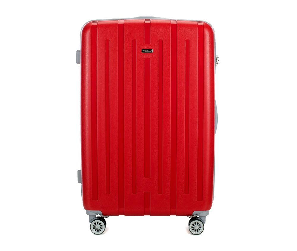 Чемодан на колёсиках 28\\ Wittchen V25-10-813-50, красныйБольшой чемодан из коллекции VIP Travel \\\Snappy\\\, сделан из стойкого пластика - полипропилена. Имеет четыре двойных колесика, позволяющие без усилий перемещать чемодан, трехуровневую телескопическую ручку и дополнительную резиновую ручку, кодовый замок с системой TSA.Особенности модели:    отделение с эластичными ремешками    отделение на молнии.<br><br>секс: унисекс<br>материал:: Полипропилен<br>высота (см):: 78<br>ширина (см):: 51<br>глубина (см):: 29<br>вес (кг):: 4.7<br>объем (л):: 88