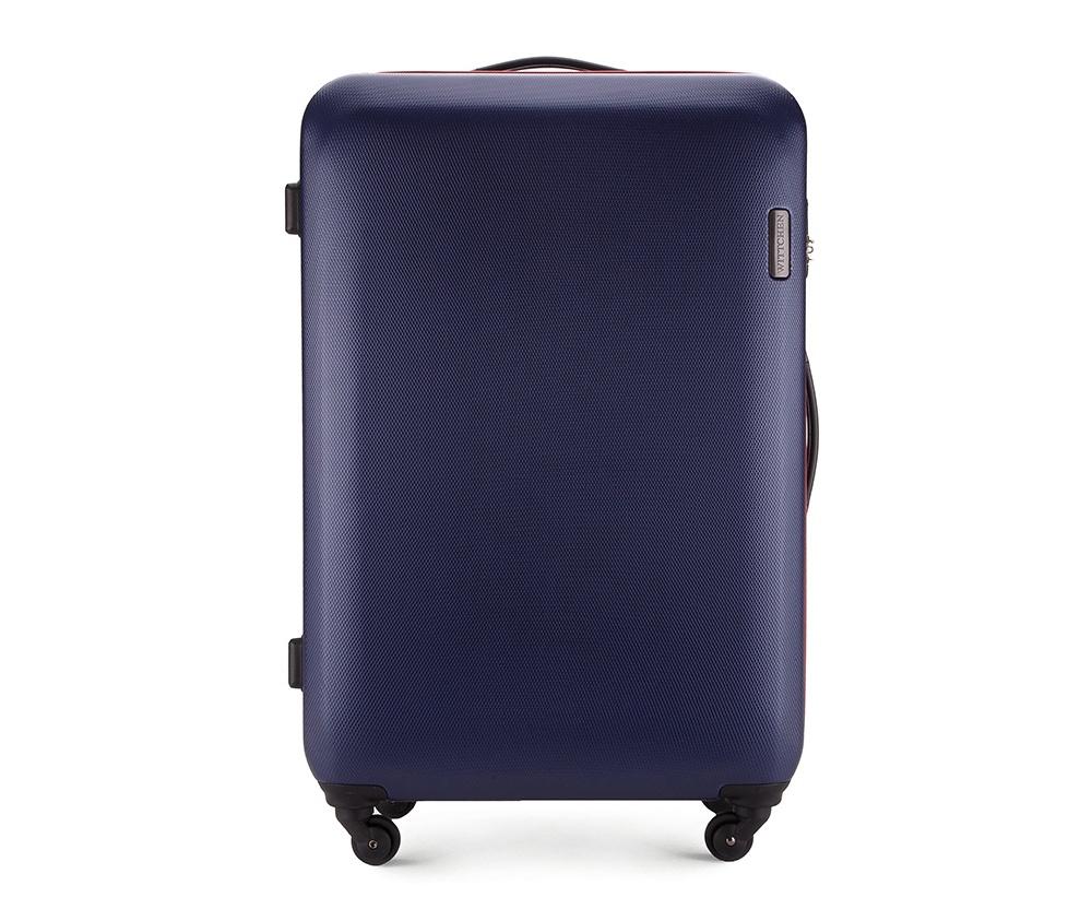 Чемодан на колёсиках 28\\Большой чемодан из коллекции ABS S-Line, сделан из высокопрочного и устойчивого к царапинам пластика ABS. Выдвижная ручка, главное отделение на молнии с кодовым замком TSA, разделённое на две части: одно отделение с фиксирующими ремнями для одежды, второе отделение закрывается на молнию, внутренний карман на молнии.<br><br>секс: унисекс<br>материал:: ABS пластик<br>высота (см):: 81<br>ширина (см):: 54<br>глубина (см):: 28<br>вес (кг):: 4.5<br>объем (л):: 94