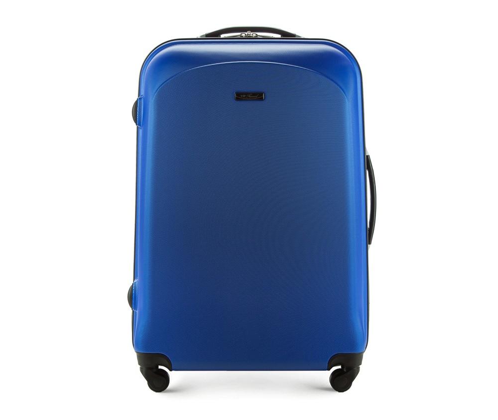 Чемодан на колесиках 27\\Большой чемодан из коллекции VIP Ride 3, сделан из ударопрочного поликарбоната. Чемодан имеет 4 двойных колесика, двухступенчатую выдвижную алюминиевую ручку и две резиновые ручки: сверху и сбоку. Современный и оригинальный дизайн чемодана подчеркивает красная нить вплетенная в молнию. Чемодан имеет двойную молнию, функцию  \AntiTheft\, благодаря которой чемодан устойчив к нежелательному открытию острым предметом, кодовый замок с функцией TSA. Внутри: два отделения для одежды, один отдел фиксируется ремнями на застежку и второй закрывается на молнию; 2 сетчатых кармана на молнии.<br><br>секс: унисекс<br>Цвет: голубой<br>материал:: ABS пластик<br>высота (см):: 77<br>ширина (см):: 51<br>глубина (см):: 29<br>размер:: большой<br>объем (л):: 90<br>вес (кг):: 4.2