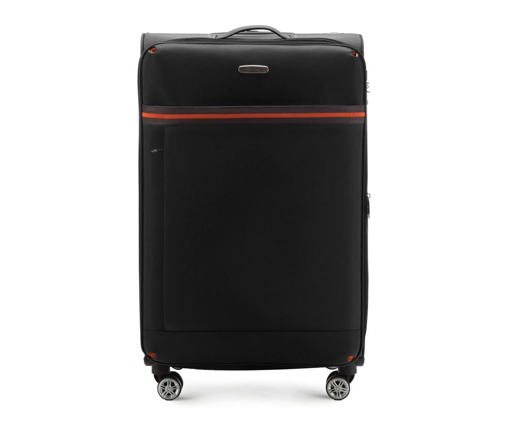 Большой чемодан 28\Большой чемодан из коллекции  Comfort Line сделан из высокопрочного полиэстра. Выдвижная ручка, главное отделение на молнии с кодовым замком TSA, разделённое на две части: одно отделение с фиксирующими ремнями для одежды, второе отделение закрывается на молнию, внутренний карман на молнии.<br><br>секс: унисекс<br>Цвет: черный<br>материал:: Полиэстер<br>подкладка:: полиэстр<br>высота (см):: 81<br>ширина (см):: 47<br>глубина (см):: 31<br>размер:: большой<br>объем (л):: 96<br>вес (кг):: 3,9