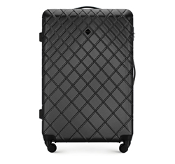 Large suitcase, steel - black, 56-3A-553-11, Photo 1