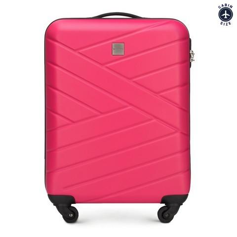 Walizka kabinowa, różowy, 56-3A-301-35, Zdjęcie 1
