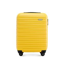 Walizka kabinowa z ABS-u z żebrowaniem, żółty, 56-3A-311-50, Zdjęcie 1
