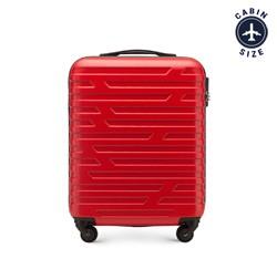 Walizka kabinowa z ABS-u w geometryczny deseń, czerwony, 56-3A-391-30, Zdjęcie 1