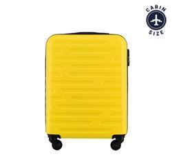 Walizka kabinowa z ABS-u w geometryczny deseń, żółty, 56-3A-391-85, Zdjęcie 1