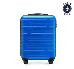 Walizka kabinowa z ABS-u w geometryczny deseń, niebieski, 56-3A-391-90, Zdjęcie 1