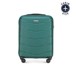 Walizka kabinowa z ABS-u w desen, zielony, 56-3A-401-81, Zdjęcie 1