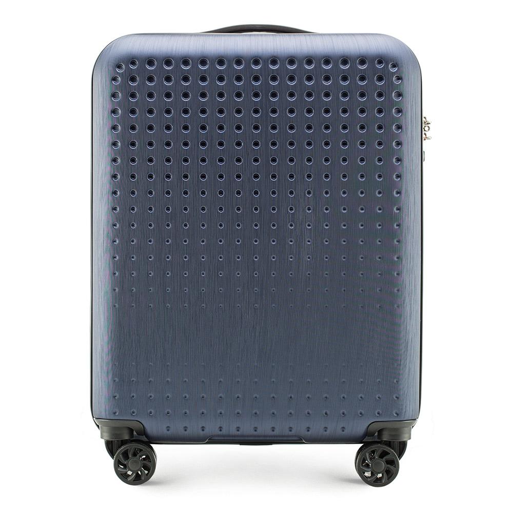 b70f9fdb76e04 torby podróżne i walizki wittchen walizka kabinowa granatowo - czerwony abs  - wittchen