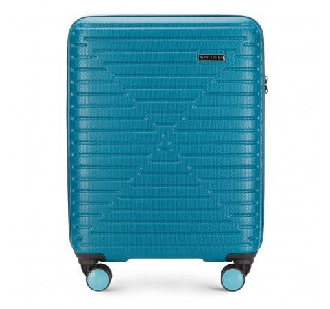 Walizka kabinowa, niebieski, 56-3A-451-95, Zdjęcie 1