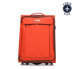 Walizka kabinowa, pomarańczowo - czarny, 56-3S-461-55, Zdjęcie 1