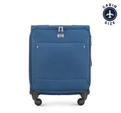 Walizka kabinowa, niebieski, 56-3S-531-9R, Zdjęcie 1